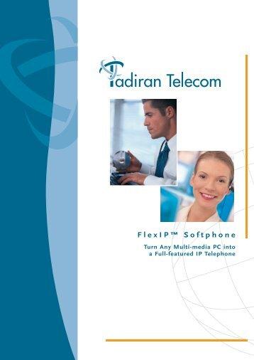 FlexIP SoftPhone - Brochure - Tadiran Telecom