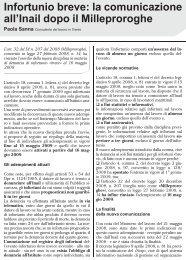 Infortunio breve: la comunicazione all'Inail dopo il ... - UIL Basilicata