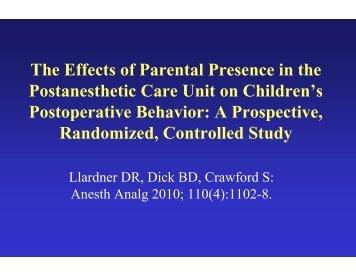 Anesthesia and Analgesia - The Society for Pediatric Anesthesia