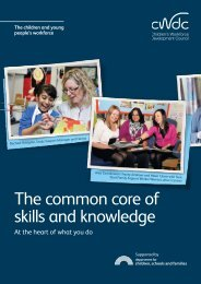 The common core of skills and knowledge