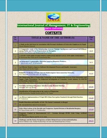 Donload full Lenght Paper...... - International Journals of ...