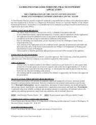 guidelines for good forestry practices permit application - County of ...