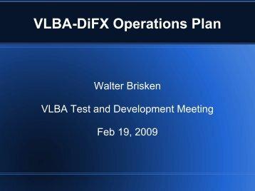 VLBA-DiFX Operations Plan