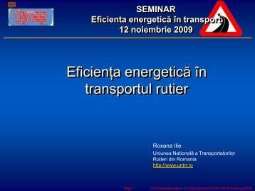 EFICIENŢA ENERGETICĂ ÎN TRANSPORTUL RUTIER ... - URTP