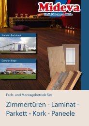 Zimmertüren - Laminat - Parkett - Kork - Paneele - Mideva