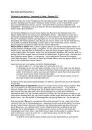 Das Gebet des Paulus Teil 2 Christus in uns ... - FeG Wienhausen