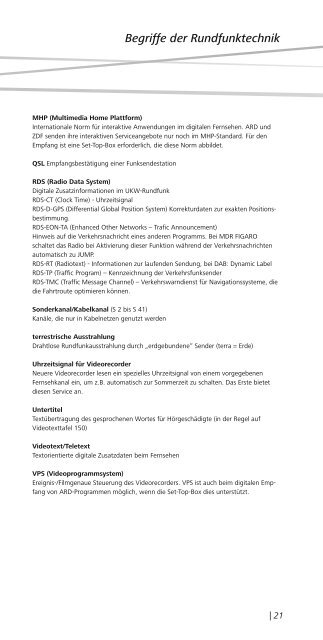 Senderstandorte und Radiofrequenzen - MDR-Werbung
