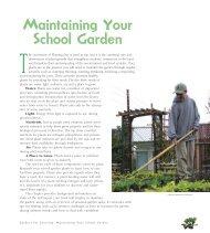 Chapter 8 - Maintaining Your School Garden - California School ...