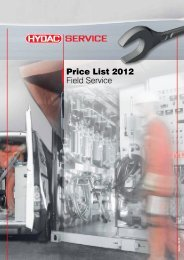 Price List 2012 Field Service - HYDAC