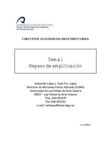 Tema 1 Repaso de amplificación - Instituto Universitario de ...