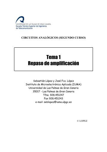 Tema 1 Repaso de amplificación - Instituto Universitario de ...