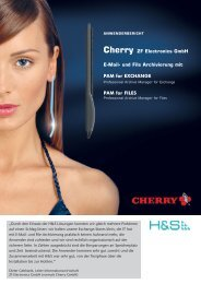 Cherry ZF Electronics GmbH - H&S Heilig and Schubert Software AG