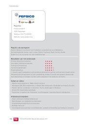 PepsiCo als werkgever Resultaten van het onderzoek Feiten ... - Jobat