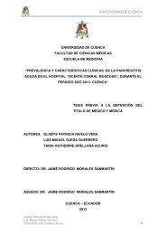 TESIS DE PANCREATITIS - Repositorio de la Universidad de Cuenca