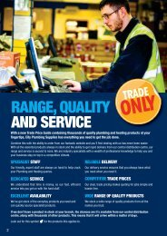 RANGE, QUALITY AND SERVICE - City Plumbing Supplies