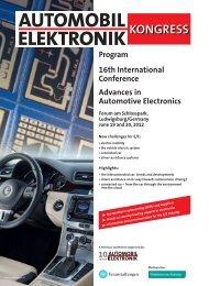 Program 16th International Conference Advances in Automotive ...