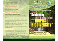 the Remaining - Tropical Biology Association