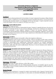 Università di Roma La Sapienza Dipartimento di Meccanica ed ...