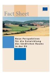 Fact Sheet: Neue Perspektiven für die Entwicklung des ... - Europa