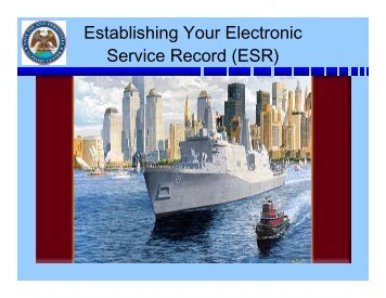 Establishing Your Electronic Service Record (ESR) - CNIC