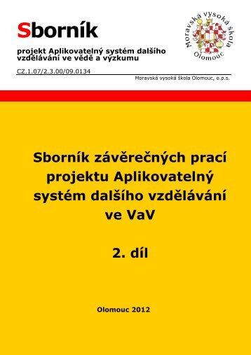 Sborník závěrečných prací 2. díl - Moravská vysoká škola Olomouc