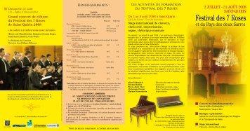 Programme complet Saint Quirin 2008 - CD Baroque - K617