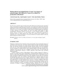 Biodegradation and delignification of sugar cane bagasse of pulp ...