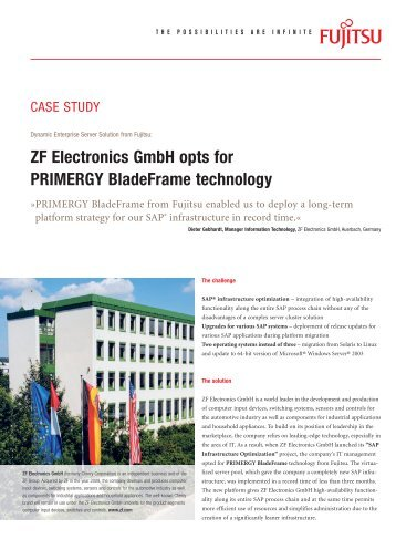ZF Electronics GmbH opts for PRIMERGY BladeFrame technology