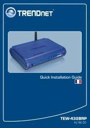 Quick Installation Guide TEW-432BRP - TRENDnet