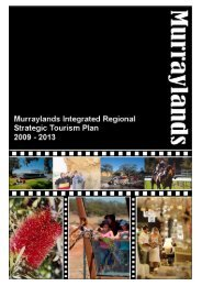 Murraylands Integrated Regional Strategic Tourism Plan 2009 ...