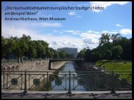 Andreas Nierhaus, Wien Museum - Europaforum Wien