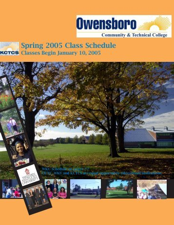 OCTC Spring 2005 Schedule of Classes - Owensboro Community ...