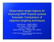 Observation target regions for improving NWP tropical cyclone ...