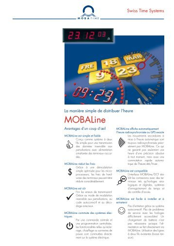MOBALine - MOBATIME Swiss Time Systems