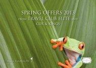 spring OFFErs 2013 - Travel Club Elite