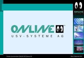 Händler- und Produktschulung - Online USV Systeme