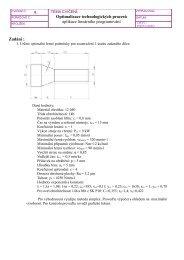 Zadání : 9. Optimalizace technologických procesů ... - VUT UST