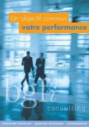 Un objectif commun votre performance - BGFi Consulting