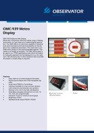 OMC-939 Meteo Display - Dipl.ing. Houm AS