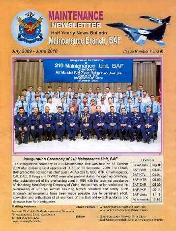 maintenance news letter - Bangladesh Air Force