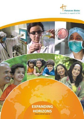 EXPANDING HORIZONS - Panacea Biotec