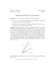 Mathematik für Physiker B: ¨Ubungsblatt 5