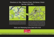 Directions to Vibe, Waterloo Road, Old Market ... - Linden Homes