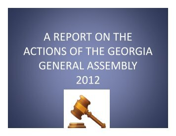 a report on the actions of the georgia general assembly ... - Ciclt.net