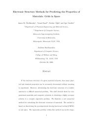 Electronic Structure Methods for Predicting the Properties of ...