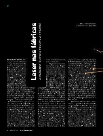 Laser nas fábricas L - Revista Pesquisa FAPESP
