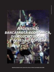 bancarrota econômica, dissolução social, rebelião popular - Adusp