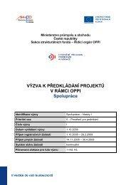 Spolupráce - Klastry - I. výzva k předkládání projektů - CzechInvest