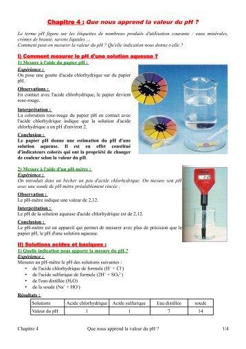 6 solutions acides et basiques - Comment mesurer le ph ...