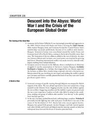 Descent into the Abyss: World War I and the Crisis of the
